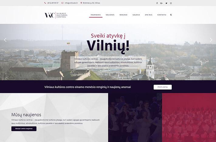 Internetinė svetainė vilniaus kultūros centras
